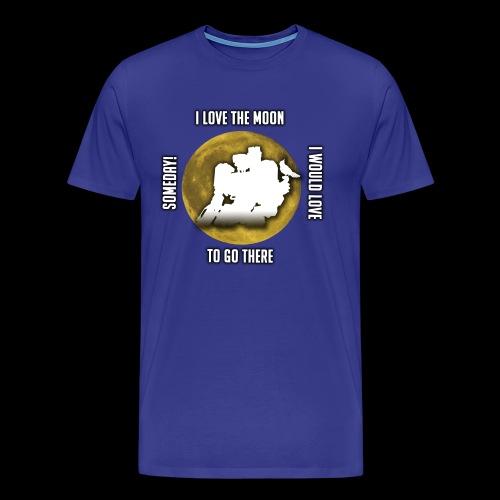 DIGIT T SHIRT, I LOVE THE MOON! - Men's Premium T-Shirt