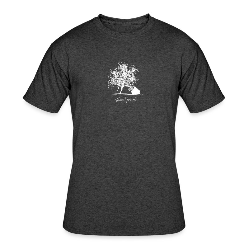 White Tree with Black Bac - Men's 50/50 T-Shirt