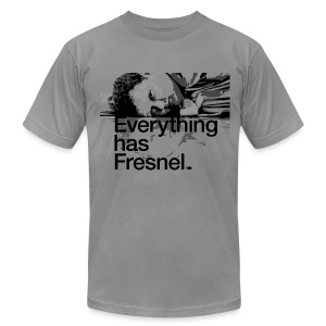 Lon Grohs - Everything has Fresnel - Slate Gray - Men's T-Shirt by American Apparel
