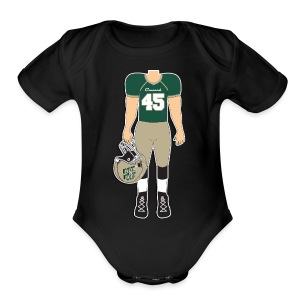 45 front and back - Short Sleeve Baby Bodysuit