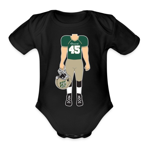 45 front and back - Organic Short Sleeve Baby Bodysuit