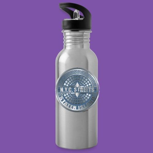 Manhole Covers Staten Island Blue Bottle - Water Bottle