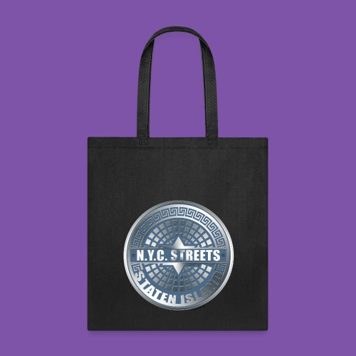 Manhole Covers Staten Island Blue Tote - Tote Bag