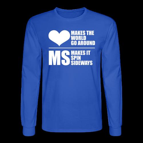 MS Makes the World Spin - Men's Long Sleeve - Men's Long Sleeve T-Shirt
