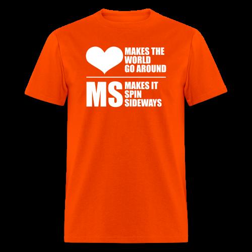 MS Makes the World Spin - Men's T-shirt - Men's T-Shirt