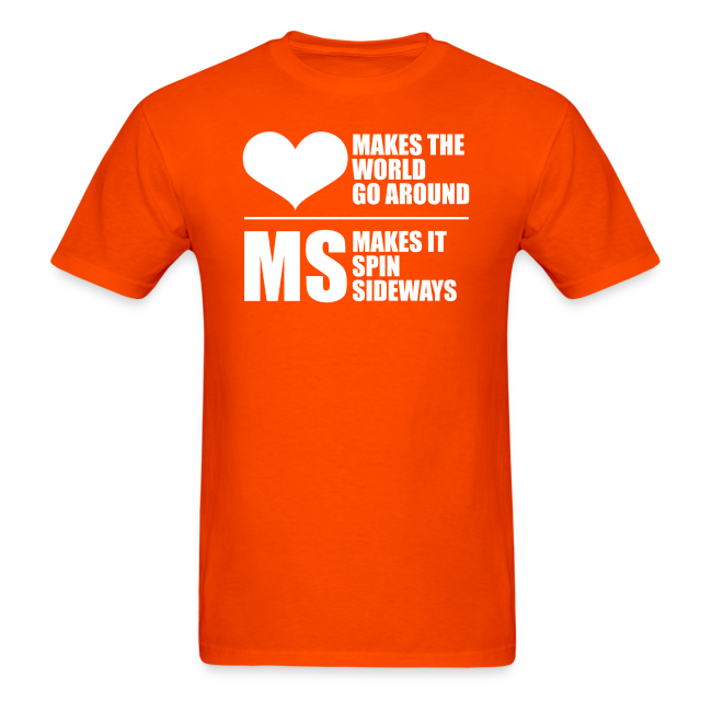 MS Makes the World Spin - Men's T-shirt