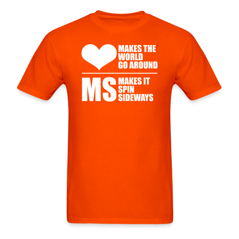 MS Makes the World Spin - Men's T-shirt - Men's T-Shirt