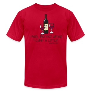 Wine a Little - Mens Tee by American Apparel - Men's T-Shirt by American Apparel