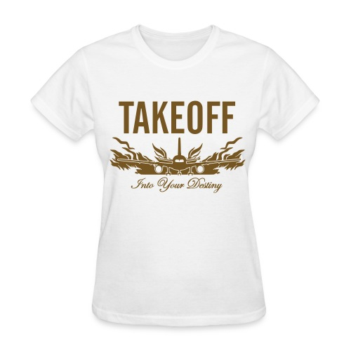 Takeoff Into Your Destiny Gold Glitter - Women's T-Shirt