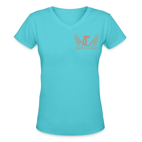 Takeoff Into Your Destiny Pink Glitter - Women's V-Neck T-Shirt