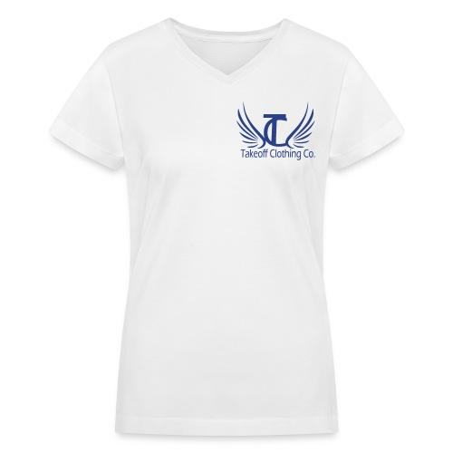 Takeoff Into Your Destiny  - Women's V-Neck T-Shirt
