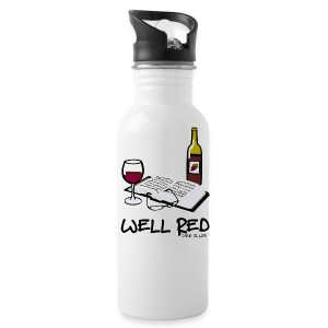 Wine is Life Well Red - Water Bottle - Water Bottle