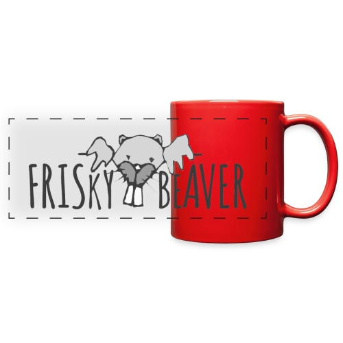 Frisky Beaver Pano Mug - Full Color Panoramic Mug