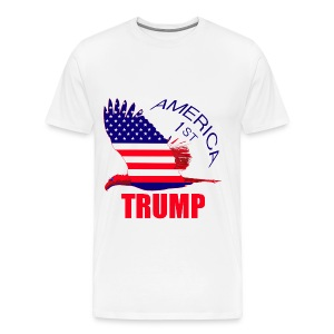 Trump eagle America first - Men's Premium T-Shirt