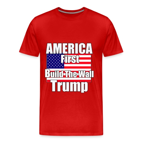 America first trump wall - Men's Premium T-Shirt
