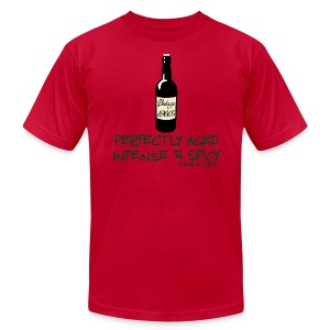 Wine is Life 60 Vintage - Mens Tee by American Apparel - Men's T-Shirt by American Apparel