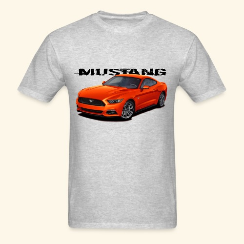 Competition Orange Mustang - Men's T-Shirt