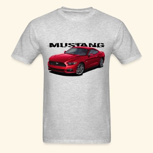 Ruby Red Mustang - Men's T-Shirt