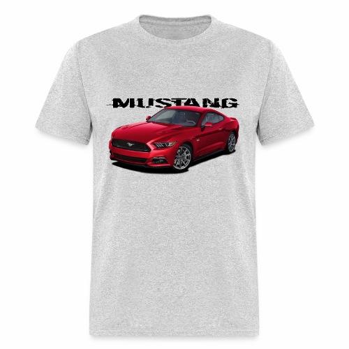 Ruby Red Mustang - Men's T-Shirt