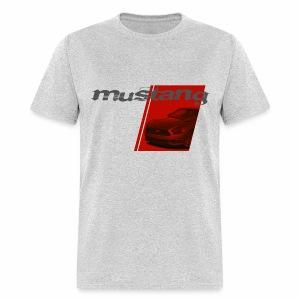 Mustang on Red Stripe - Men's T-Shirt