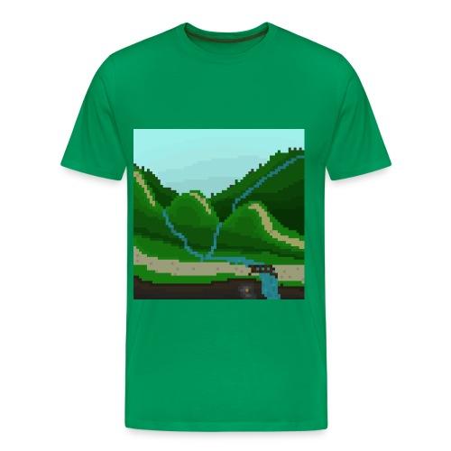 Pixel Mountain - Men's Premium T-Shirt