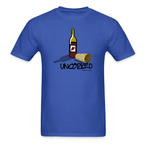 Wine is LIfe Uncorked - Mens Tee by American Apparel - Men's T-Shirt