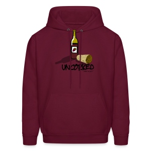 Wine is LIfe Uncorked - Mens Hooded Sweatshirt - Men's Hoodie