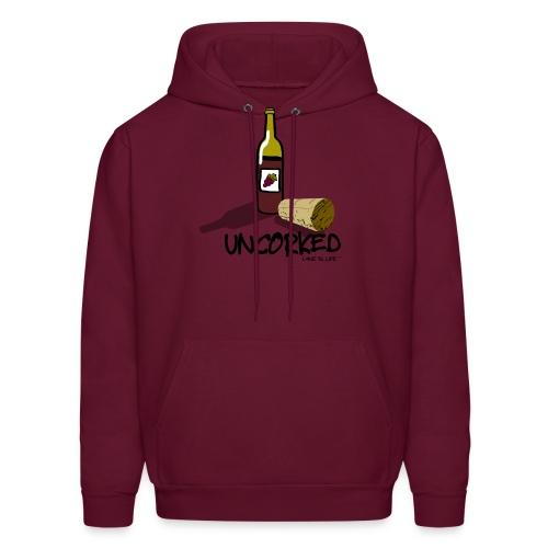 Wine is LIfe Uncorked - Mens Hooded Sweatshirt - Men's Hoodie