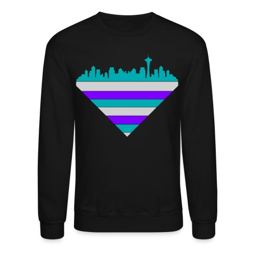 Seattle Tile Multi Crewneck - Crewneck Sweatshirt