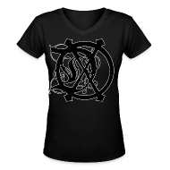 T-Shirts ~ Women's V-Neck T-Shirt ~ WOMENS DOX LOGO V-NECK (BLACK)