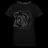 Women's T-Shirts ~ Women's V-Neck T-Shirt ~ WOMENS DOX LOGO V-NECK (BLACK)