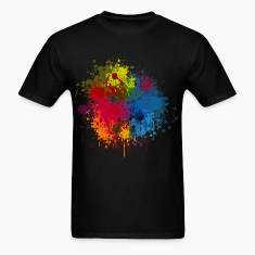 Abstract Paint Splatter T-Shirts