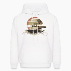 Bonsai Scene Hoodies