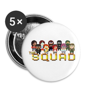 8-Bit Squad Buttons  - Small Buttons