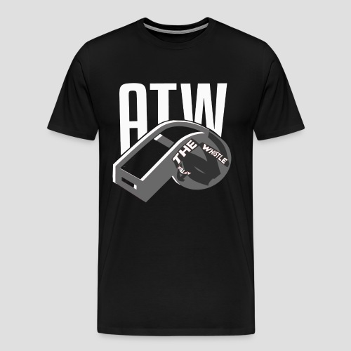 ATW Chicago Mens Shirt - Black/White Whistle w/Text ALL COLORS - Men's Premium T-Shirt