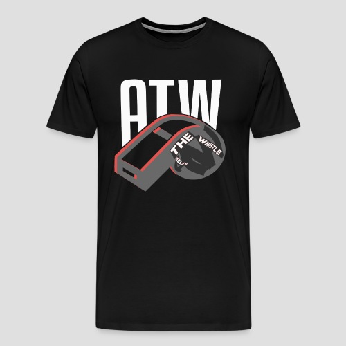 ATW Chicago Mens Shirt - Black/Red Whistle w/Text ALL COLORS - Men's Premium T-Shirt
