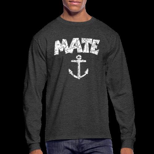 Mate Anchor Sailing Longsleeve (Distressed White) - Men's Long Sleeve T-Shirt