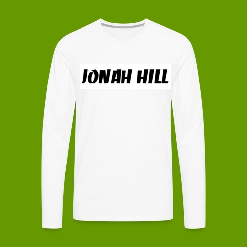 J0nah Hill White Longsleeve  - Men's Premium Long Sleeve T-Shirt