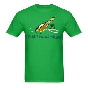 Wine is Life Stranded - Mens Standard Tee - Men's T-Shirt