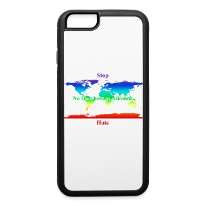 STOP HATE Rainbow Earth Tote - a part of the profits will go to the SPLC thru the end of 2018 - iPhone 6/6s Rubber Case