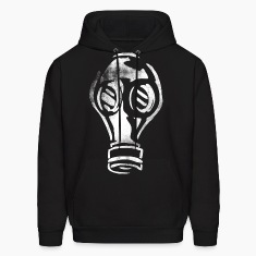 Grunge Gas Mask Graffiti White Hoodies