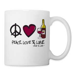 Peace, Love, & Wine - Coffee Mug - Coffee/Tea Mug