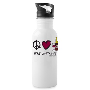 Peace, Love, & Wine - Water Bottle - Water Bottle