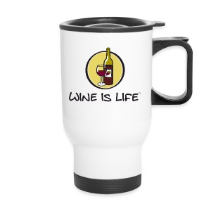 Wine is Life Logo - Travel Mug - Travel Mug