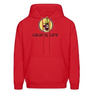 Wine is Life Logo - Mens Hooded Sweatshirt - Men's Hoodie