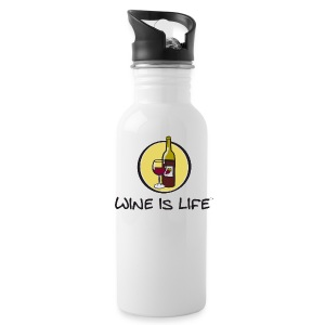Wine is Life Logo - Water Bottle - Water Bottle