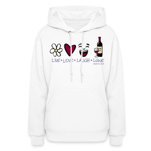 Live, Love, Laugh - Womens Hooded Sweatshirt - Women's Hoodie