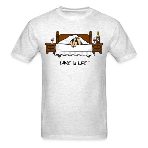 Wine is Life In Bed - Mens Standard Tee - Men's T-Shirt