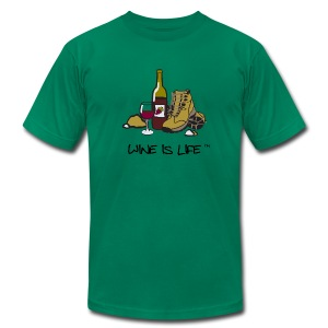 Wine is Life Hiking - Mens Tee by American Apparel - Men's T-Shirt by American Apparel