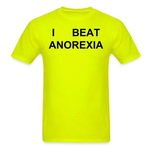 I BEAT ANOREXIA - Buy it to a chubby friend! - Men's T-Shirt